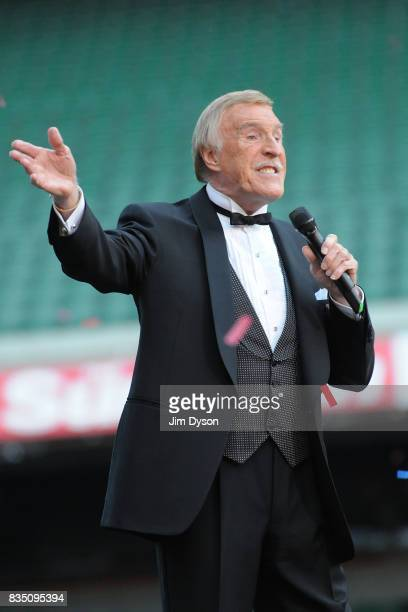 Sir Bruce Forsyth performs live on stage during the Heroes Concert at Twickenham Stadium in aid of the charity Help For Heroes on September 12 2010...