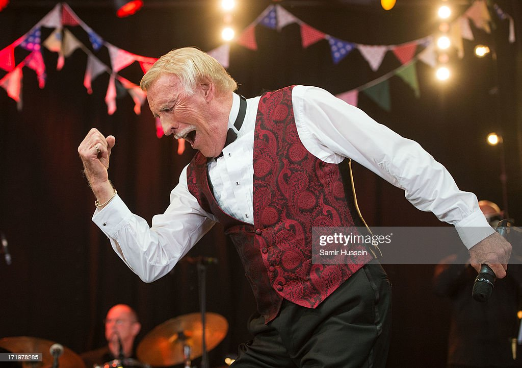 Sir Bruce Forsyth performs on the Avalon Stage at the Glastonbury Festival of Contemporary Performing Arts at Worthy Farm, Pilton on June 30, 2013 in Glastonbury, England.