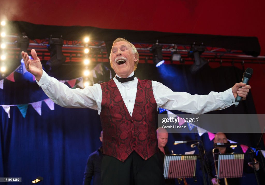 Sir <a gi-track='captionPersonalityLinkClicked' href=/galleries/search?phrase=Bruce+Forsyth&family=editorial&specificpeople=158119 ng-click='$event.stopPropagation()'>Bruce Forsyth</a> performs on the Avalon Stage at the Glastonbury Festival of Contemporary Performing Arts at Worthy Farm, Pilton on June 30, 2013 in Glastonbury, England.