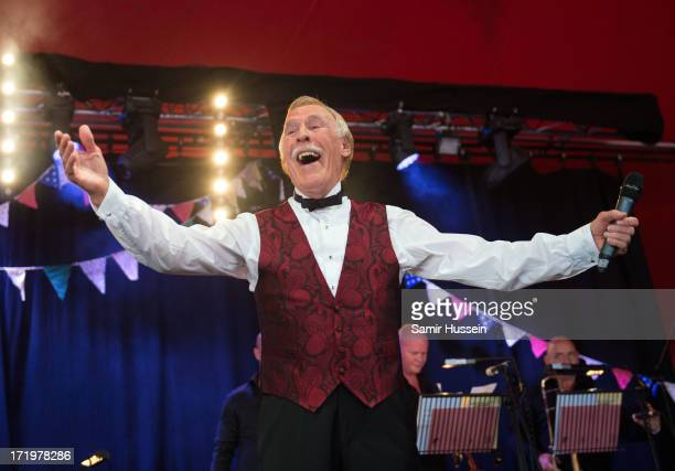 Sir Bruce Forsyth performs on the Avalon Stage at the Glastonbury Festival of Contemporary Performing Arts at Worthy Farm Pilton on June 30 2013 in...