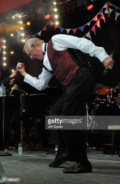 Sir Bruce Forsyth performs on the Avalon stage during day 4 of the 2013 Glastonbury Festival at Worthy Farm on June 30 2013 in Glastonbury England