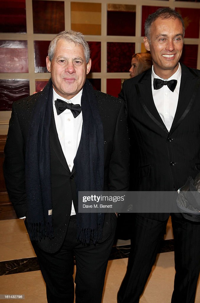 Sir Cameron Mackintosh (L) and Michael Le Poer Trench arrive at the after party following the EE British Academy Film Awards at Grosvenor House on February 10, 2013 in London, England.