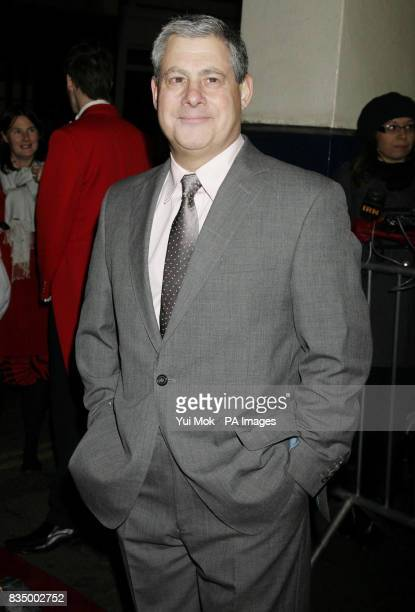 Sir Cameron Mackintosh arriving for the first night of the musical 'Oliver' at the Theatre Royal in Drury Lane central London