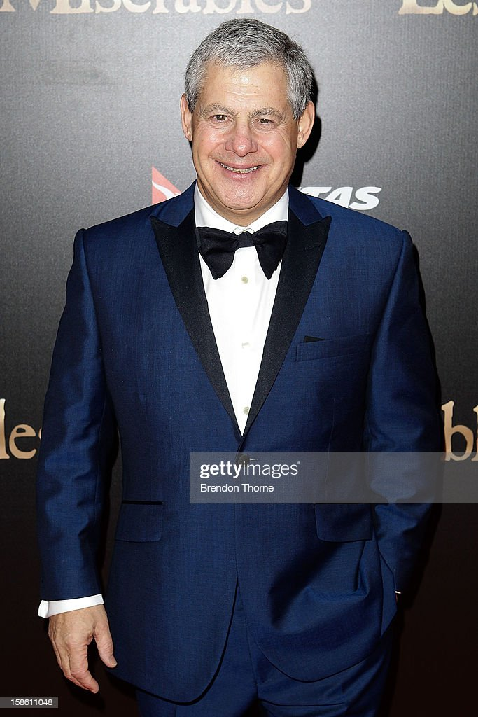 Sir Cameron Mackintosh walks the red carpet during the Australian premiere of 'Les Miserables' at the State Theatre on December 21, 2012 in Sydney, Australia.