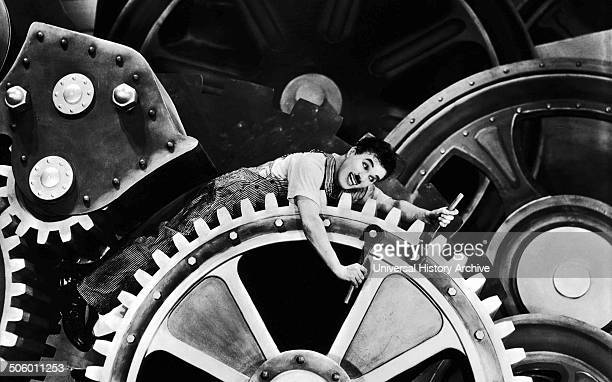 Sir Charles Spencer 'Charlie' Chaplin KBE in Modern Times a grim account of the automatization of the individual