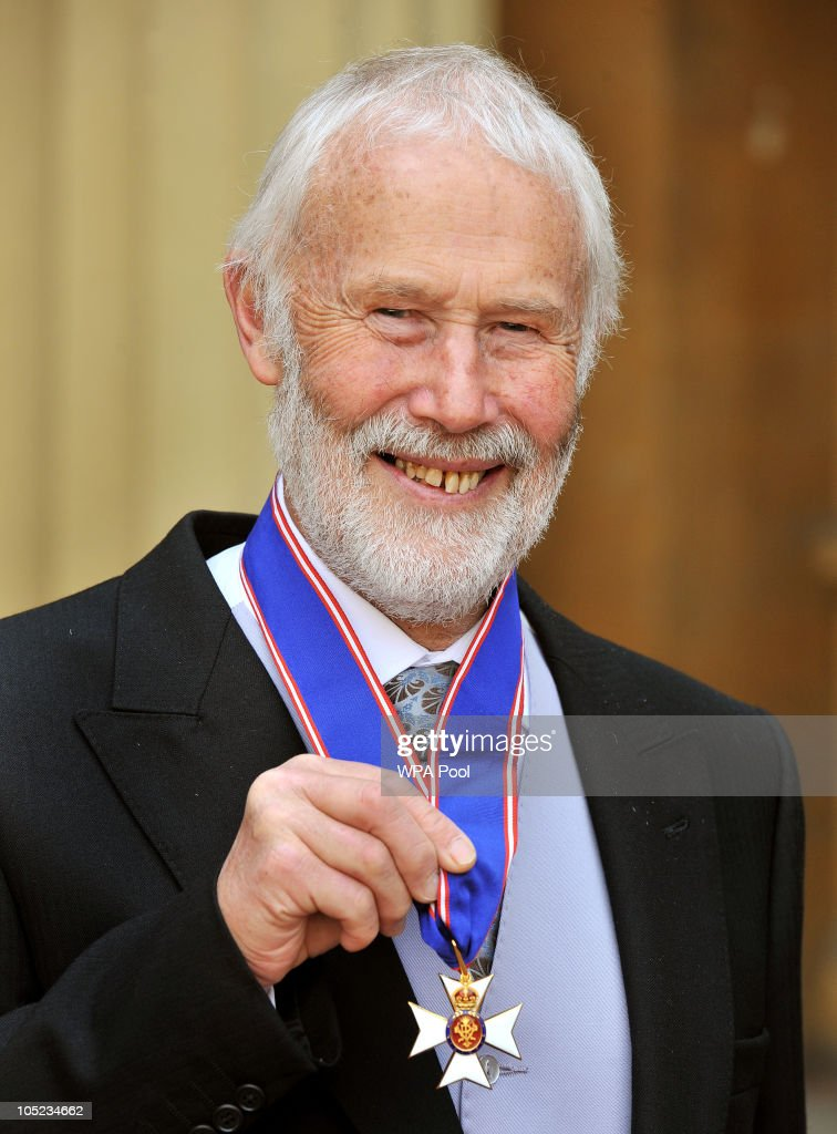 Sir Chris Bonnington poses with his CVO (Commander of the Royal Victorian Order) medal received from Queen Elizabeth II during the Royal Investiture ceremony at Buckingham Palace on October 13, 2010 in London, England. The mountaineer was honoured for his services to the Outward Bound Trust.