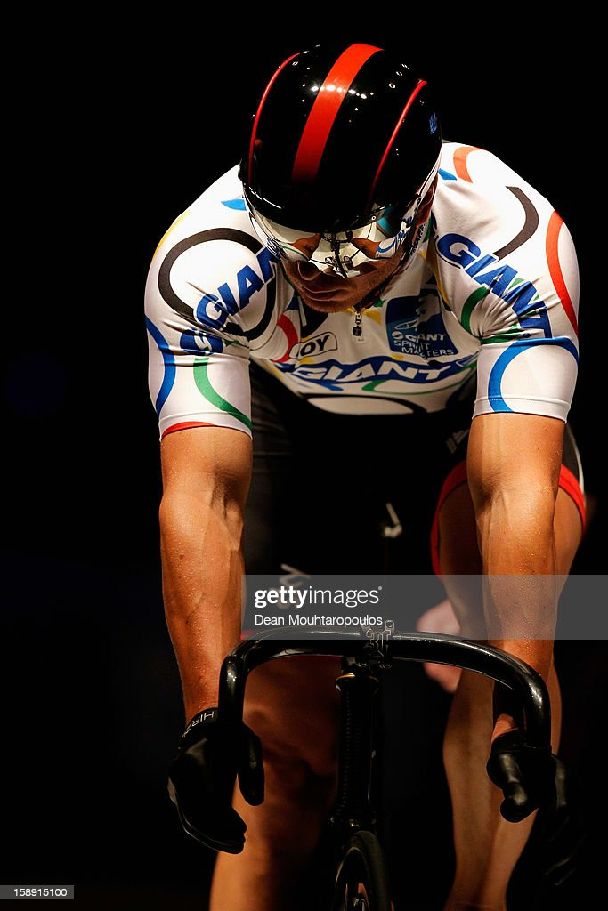 Sir Chris Hoy of Great Britain competes in the Giant Sprint Masters during the Rotterdam 6 Day Cycling at Ahoy Rotterdam on January 3, 2013 in Rotterdam, Netherlands.