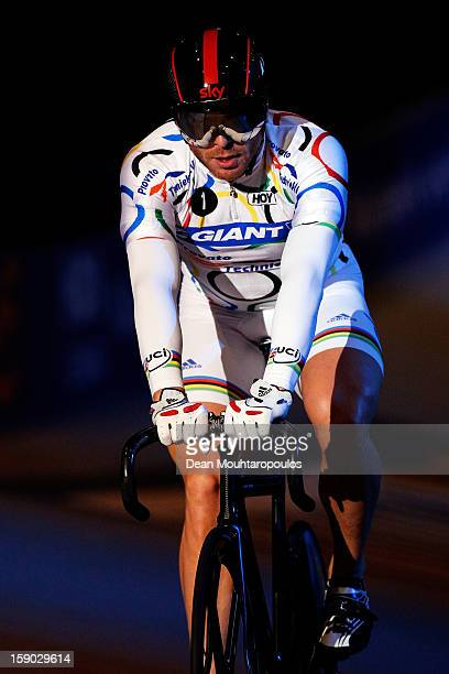 Sir Chris Hoy of Great Britain competes in the Giant Sprint Masters during the Rotterdam 6 Day Cycling at Ahoy Rotterdam on January 6 2013 in...