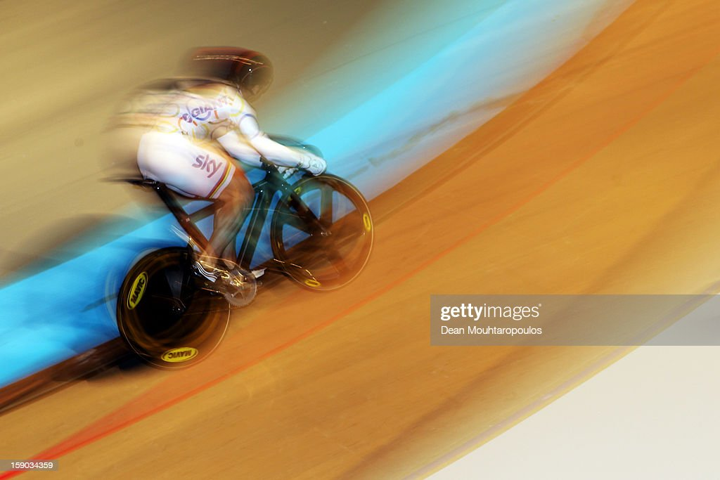 Sir Chris Hoy of Great Britain competes in the Giant Sprint Masters during the Rotterdam 6 Day Cycling at Ahoy Rotterdam on January 6, 2013 in Rotterdam, Netherlands.