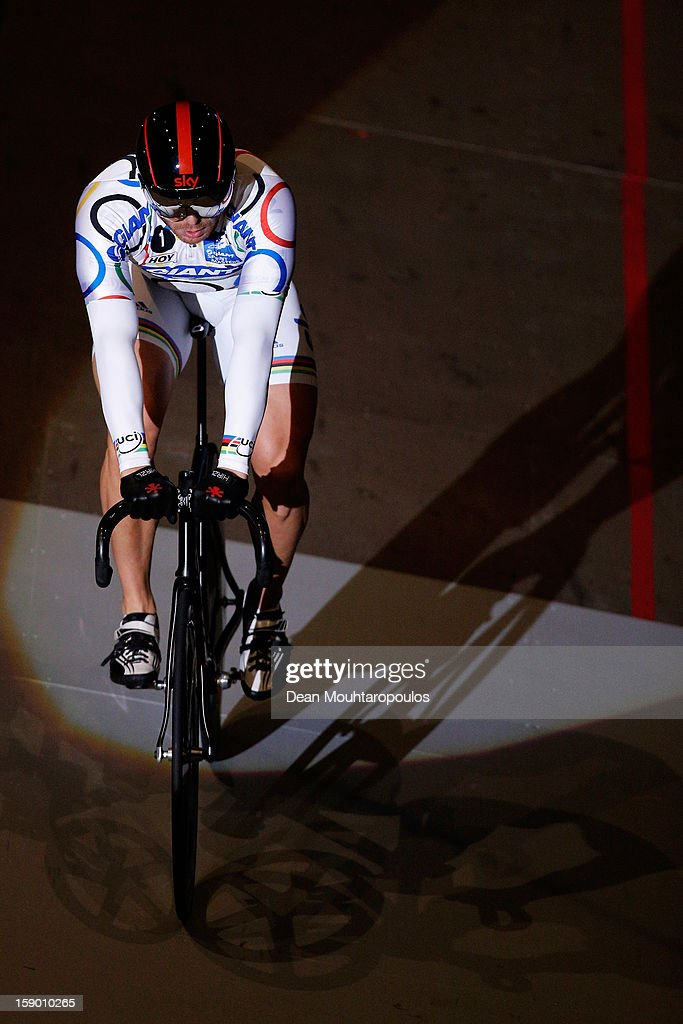 Sir Chris Hoy of Great Britain rides after his Giant Sprint Masters Race during the Rotterdam 6 Day Cycling at Ahoy Rotterdam on January 5, 2013 in Rotterdam, Netherlands.
