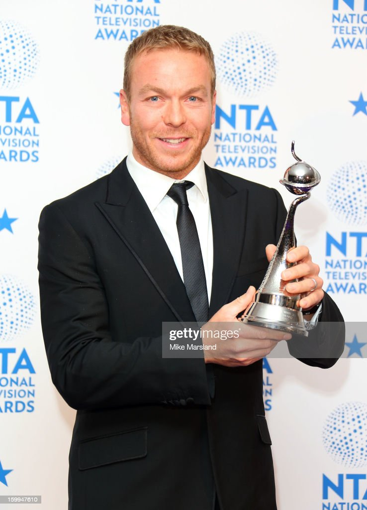 Sir <a gi-track='captionPersonalityLinkClicked' href=/galleries/search?phrase=Chris+Hoy&family=editorial&specificpeople=171259 ng-click='$event.stopPropagation()'>Chris Hoy</a> poses in the winners room at the National Television Awards at 02 Arena on January 23, 2013 in London, England.