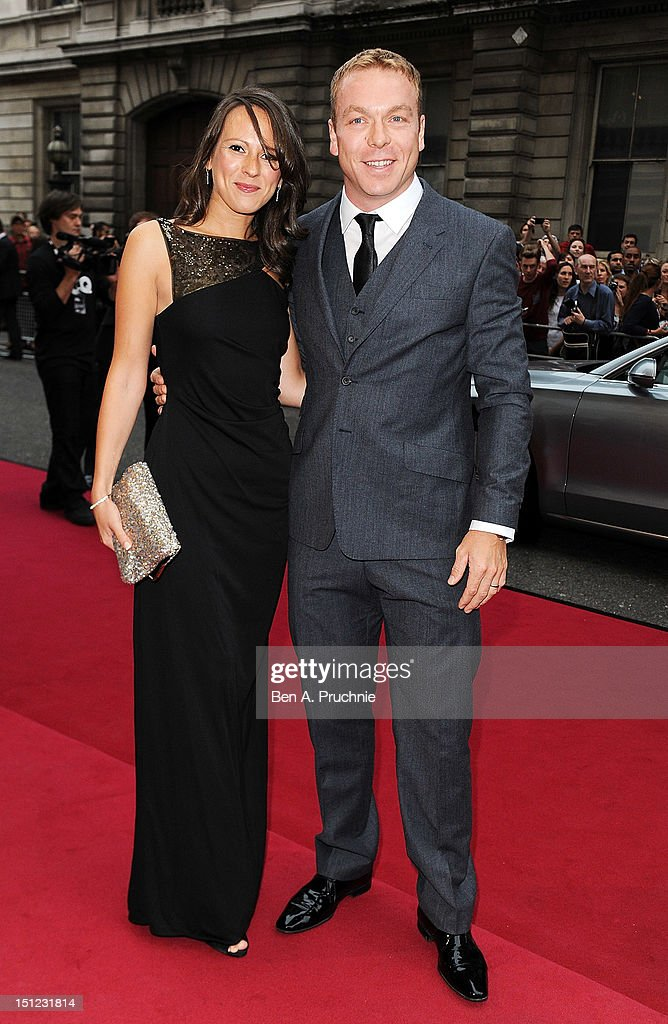 Sir <a gi-track='captionPersonalityLinkClicked' href=/galleries/search?phrase=Chris+Hoy&family=editorial&specificpeople=171259 ng-click='$event.stopPropagation()'>Chris Hoy</a> with wife Sarra Kemp attends the GQ Men of the Year Awards 2012 at The Royal Opera House on September 4, 2012 in London, England.