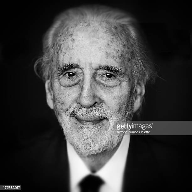Sir Christopher Lee attends a photocall during the 66th Locarno Film Festival on August 7 2013 in Locarno Switzerland