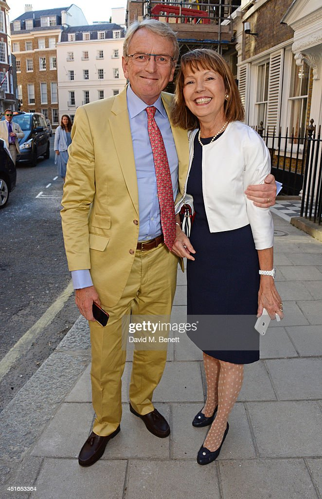 Sir Christopher Meyer (L) and Lady Catherine Meyer attend The Spectator Summer Party at Spectator House on July 3, 2014 in London, England.