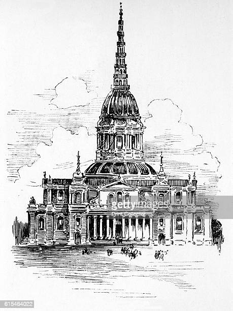 christopher wren's designs for st paul's At oxford in the spring of 1666, he made his first design for a dome  sir  christopher wren was the architect of st paul's cathedral in london.