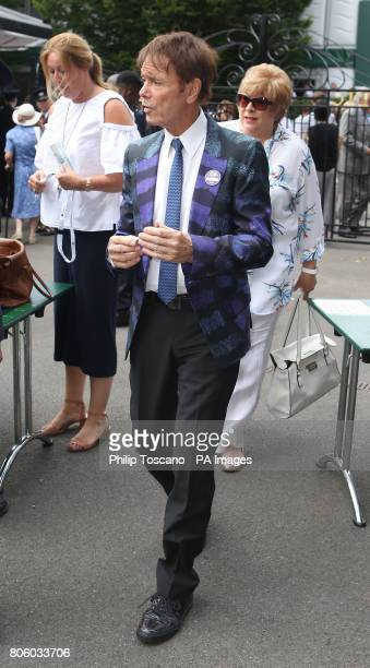 Sir Cliff Richard arrives on day one of the Wimbledon Championships at the All England Lawn Tennis and Croquet Club Wimbledon