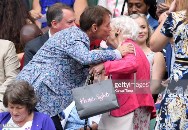 Sir Cliff Richard attends day 11 of Wimbledon 2017 on July 13 2017 in London England