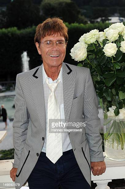 Sir Cliff Richard attends the Montblanc Young Directors Project at the Galerie Ropac on July 31 2012 in Salzburg Austria