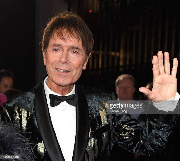 Sir Cliff Richard attends the Pride Of Britain Awards at The Grosvenor House Hotel on October 31 2016 in London England