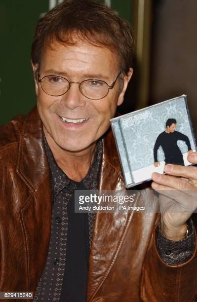 Sir Cliff Richard during an instore appearance at Harrods in Knightsbridge central London to sign copies of his new DVD 'Cliff Richard Live Castles...