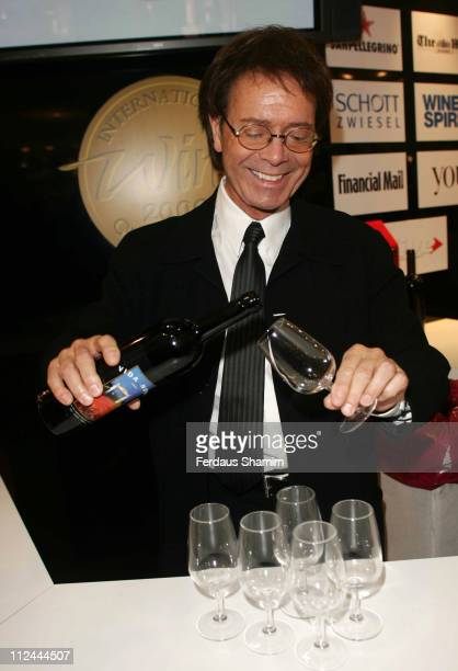 Sir Cliff Richard during Cliff Richard Host Wine Tasting at the London Wine Spirit Fair at ExCel in London Great Britain