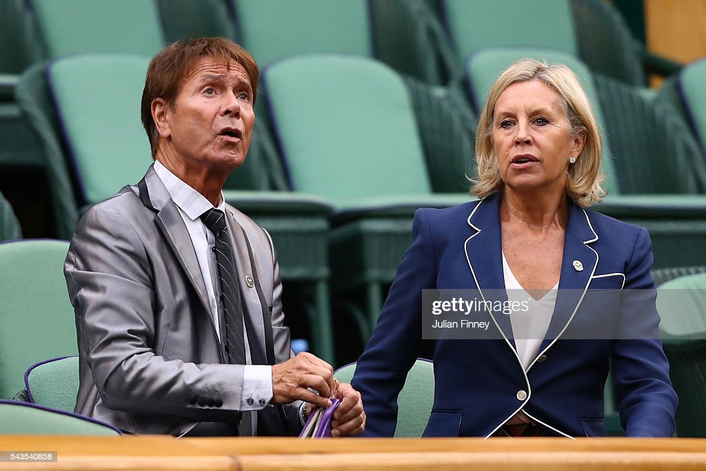 Sir <a gi-track='captionPersonalityLinkClicked' href=/galleries/search?phrase=Cliff+Richard&family=editorial&specificpeople=158267 ng-click='$event.stopPropagation()'>Cliff Richard</a> looks on from the stands in centre court on day three of the Wimbledon Lawn Tennis Championships at the All England Lawn Tennis and Croquet Club on June 29, 2016 in London, England.