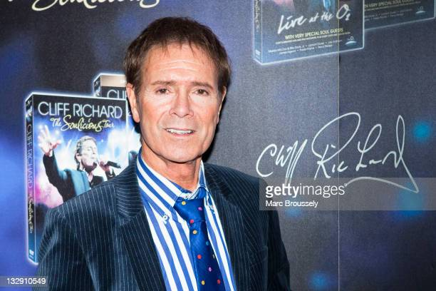 Sir Cliff Richard presents his new DVD of 'Soulicious Tour Live At The O2' during the exclusive screening at Odeon West End on November 15 2011 in...