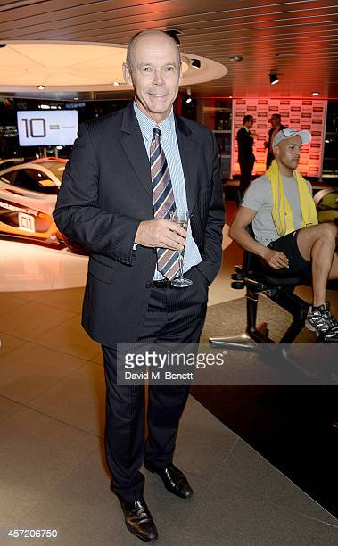 Sir Clive Woodward attends Technogym McLaren Celebrate 10 Years of Partnership at the McLaren Showroom on October 14 2014 in London England