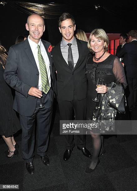Sir Clive Woodward Danni Cipriani and Jayne Woodward attends charity auction 8Rocks in aid of Cancer Research hosted by the Dallaglio Foundation at...