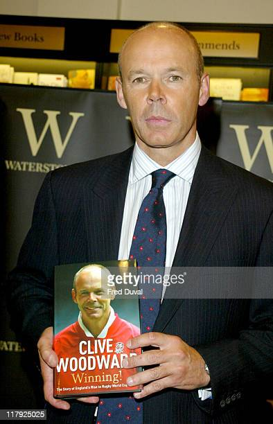 Sir Clive Woodward during Sir Clive Woodward Book Signing Of 'Winning' at Waterstone's in London Great Britain