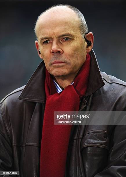 Sir Clive Woodward looks on prior to the RBS Six Nations match England and Italy at Twickenham Stadium on March 10 2013 in London England
