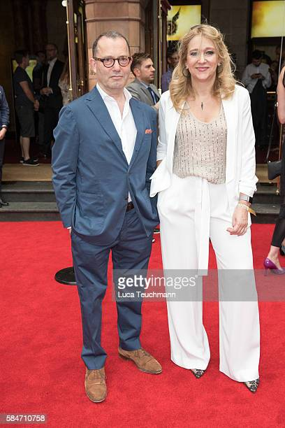 Sir Colin Callender and Sonia Friedman attend the press preview of 'Harry Potter The Cursed Child' at Palace Theatre on July 30 2016 in London England