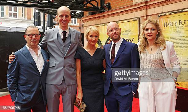 Sir Colin Callender Jack Thorne JK Rowling John Tiffany and Sonia Friedman attend the press preview of 'Harry Potter The Cursed Child' at The Palace...
