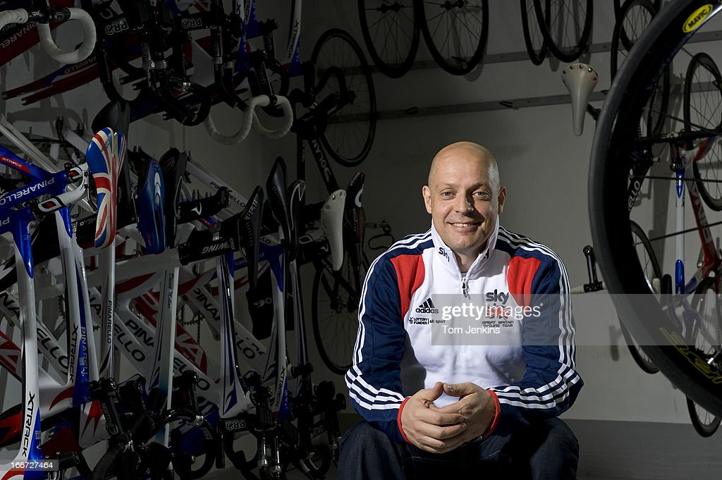 Sir <a gi-track='captionPersonalityLinkClicked' href=/galleries/search?phrase=Dave+Brailsford&family=editorial&specificpeople=3000000 ng-click='$event.stopPropagation()'>Dave Brailsford</a>, performance director for British Cycling, poses for a portrait in the store room at the National Cycling Centre on February 1, 2011 in Manchester, England.