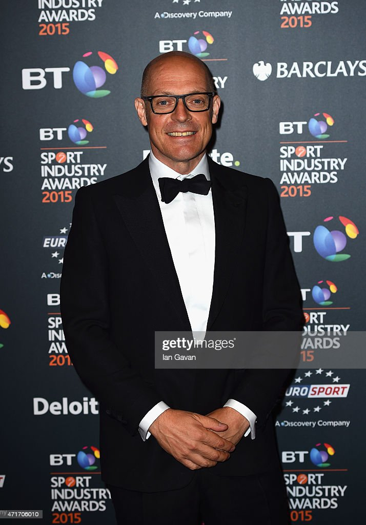 Sir <a gi-track='captionPersonalityLinkClicked' href=/galleries/search?phrase=Dave+Brailsford&family=editorial&specificpeople=3000000 ng-click='$event.stopPropagation()'>Dave Brailsford</a> poses on the red carpet at the BT Sport Industry Awards 2015 at Battersea Evolution on April 30, 2015 in London, England. The BT Sport Industry Awards is the most prestigious commercial sports awards ceremony in Europe, where over 1750 of the industry's key decision-makers mix with high profile sporting celebrities for the most important networking occasion in the sport business calendar.