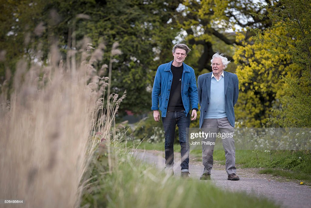 Sir David Attenborough and David Mooney attend the launch of the London Wildlife Trust's new Flagship nature reserve Woodberry Wetlands on April 30, 2016 in London, England.