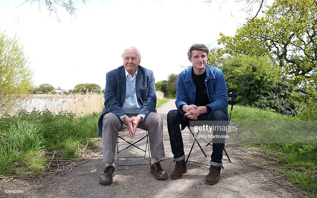 Sir David Attenborough and David Mooney opens Woodberry Wetlands on April 30, 2016 in London, United Kingdom.