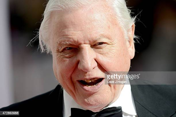 Sir David Attenborough attends the House of Fraser British Academy Television Awards at Theatre Royal on May 10 2015 in London England