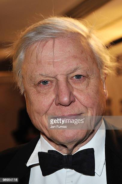Sir David Attenborough attends the Sony Radio Academy Awards held at The Grosvenor House Hotel on May 10 2010 in London England