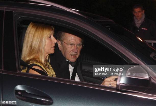 Sir David Frost and his wife Lady Carina arrive at Prince Charles's Highgrove home near Tetbury Gloucestershire where Prince Charles will be...
