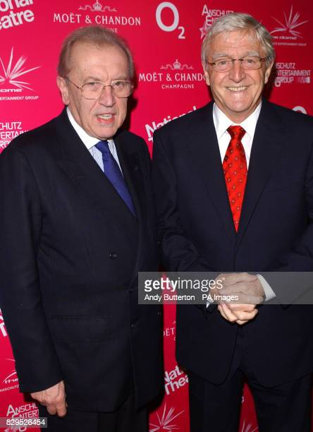 Sir David Frost and Michael Parkinson arrive