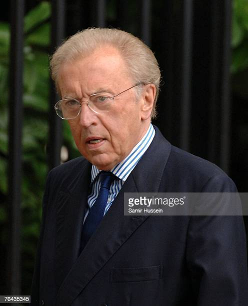 Sir David Frost arrives at the 10th anniversary memorial service for Diana Princess Of Wales held at the Guards Chapel on August 31 2007 in London...