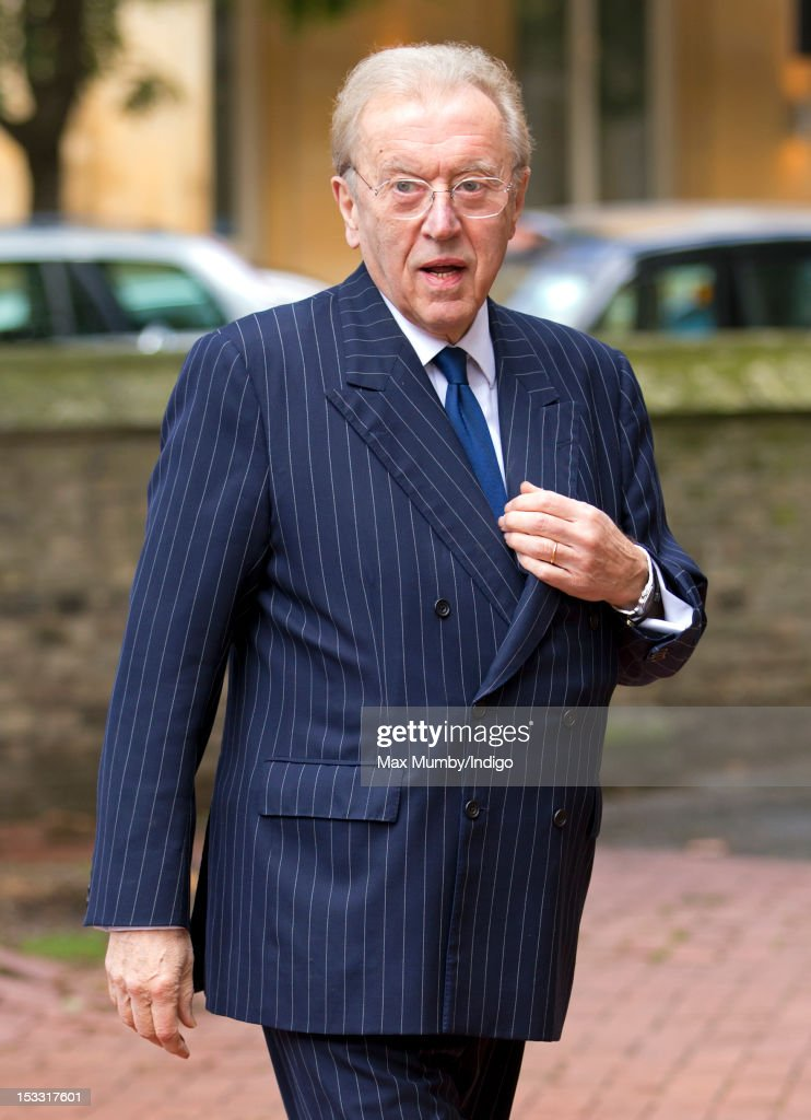 Sir David Frost attends a memorial service for Alistair Vane-Tempest-Stewart, 9th Marquess of Londonderry at St Paul's Church, Knightsbridge on October 3, 2012 in London, England.