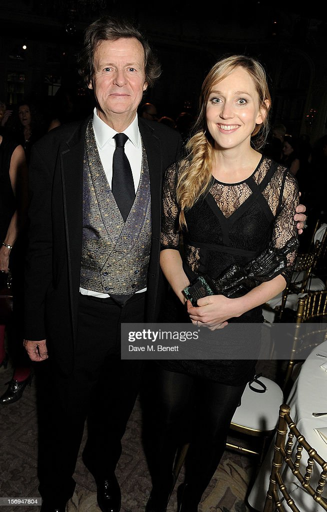 Sir David Hare (L) and Hattie Morahan attend an after party following the 58th London Evening Standard Theatre Awards in association with Burberry at The Savoy Hotel on November 25, 2012 in London, England.