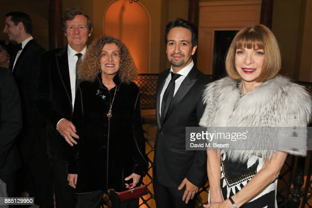 Sir David Hare Nicole Farhi LinManuel Miranda and Anna Wintour attend a drinks reception ahead of the London Evening Standard Theatre Awards 2017 at...