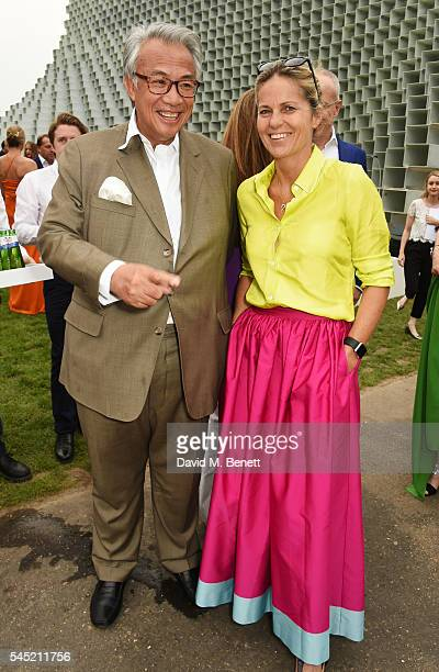 Sir David Tang and Lucy Tang attend The Serpentine Summer Party cohosted by Tommy Hilfiger on July 6 2016 in London England