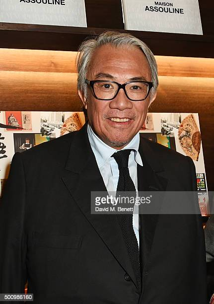Sir David Tang attends a champagne reception to celebrate the launch of 'Mandarin Oriental The Book' by Assouline at Maison Assouline on December 11...