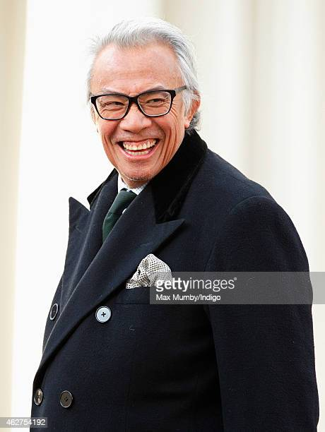 Sir David Tang attends a service of thanksgiving for the life of John SpencerChurchill 11th Duke of Marlborough at The Guards Chapel Wellington...