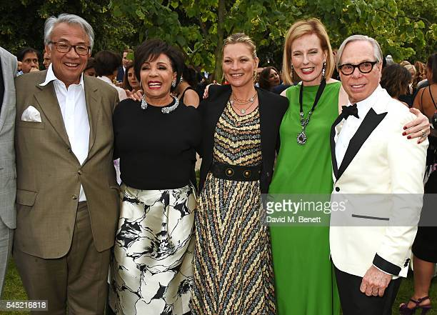 Sir David Tang Dame Shirley Bassey Kate Moss Julia PeytonJones and Tommy Hilfiger attend The Serpentine Summer Party cohosted by Tommy Hilfiger on...