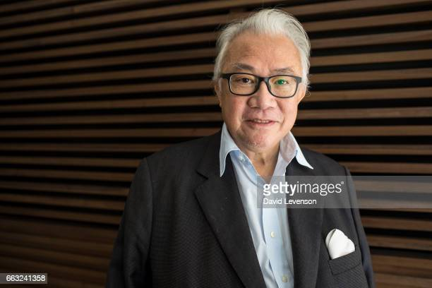 Sir David Tang Hong Kong entrepeneur and businessman at the FT Weekend Oxford Literary Festival on April 1 2017 in Oxford England